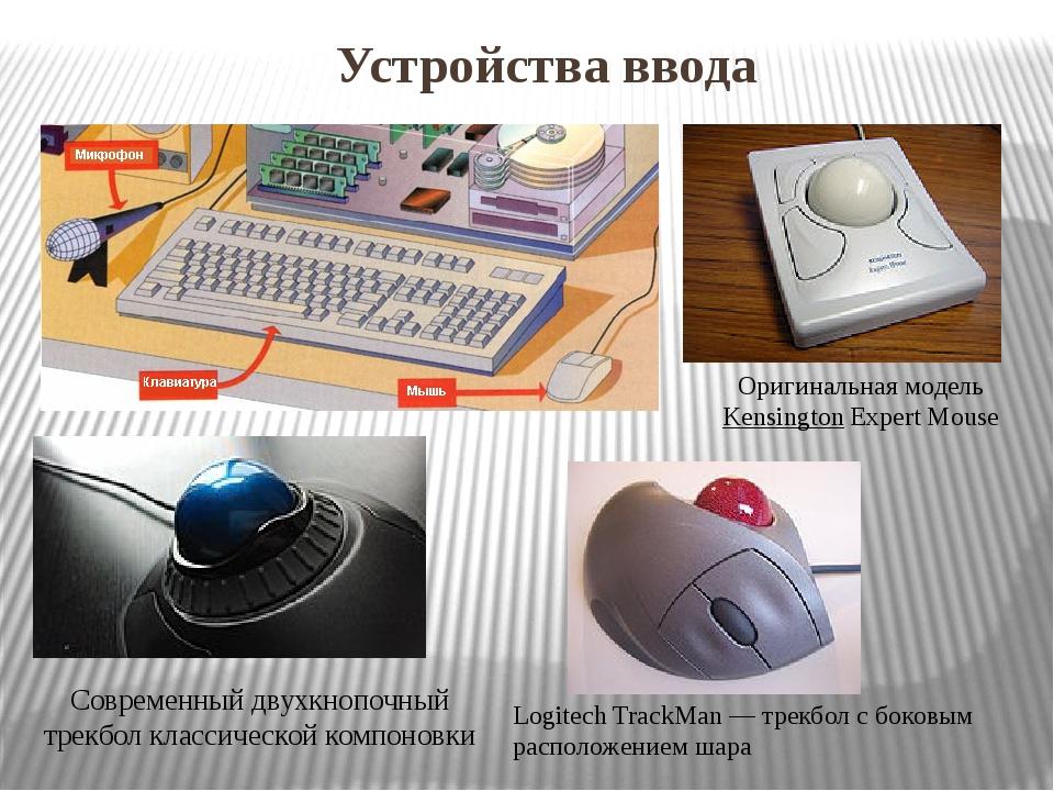 Устройства ввода Оригинальная модельKensingtonExpert Mouse Современный двухк...