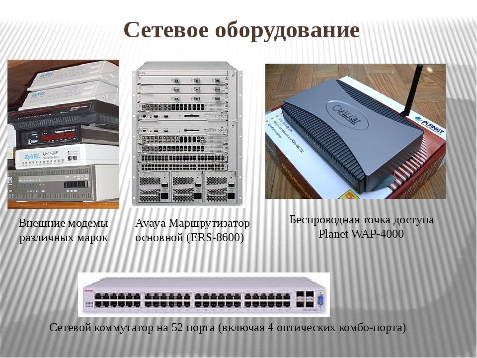 Сетевое оборудование Внешние модемы различных марок AvayaМаршрутизатор основ...