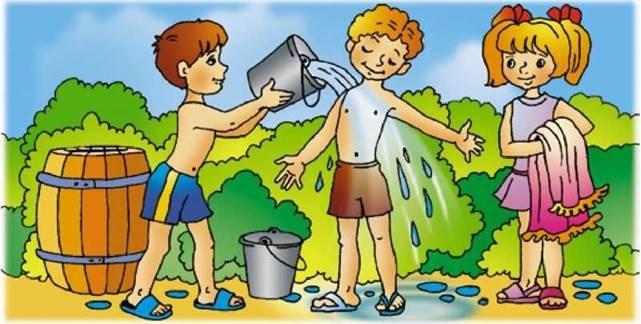 Закаливание водой картинка для детей