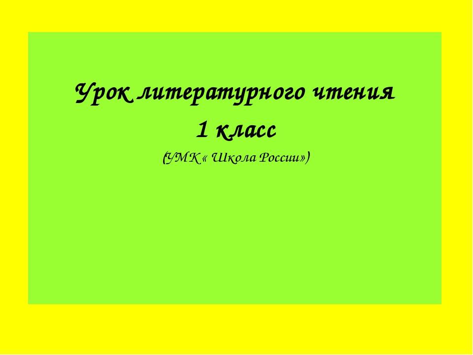 Урок литературного чтения 1 класс (УМК « Школа России»)