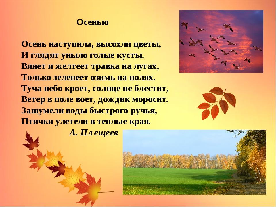 картинки к стихотворению осень наступила найти гостевые дома