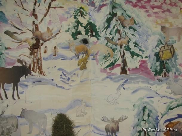 звери в зимнем лесу картинки в старшей группе цель привлечь людей
