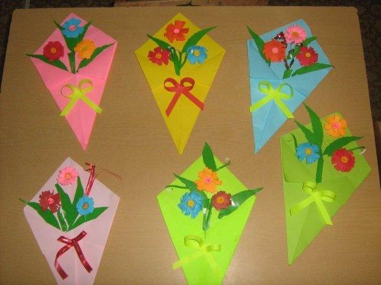 Открытка на 8 марта младшая группа детского сада, днем рождения женщине