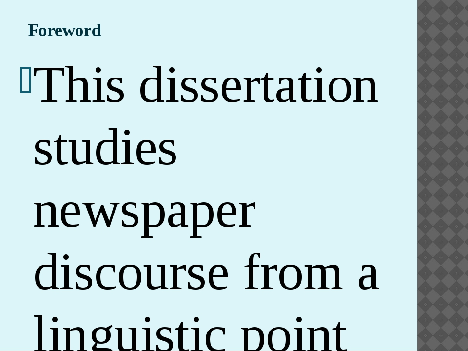 dissertation approach Dissertation is basically a research that is intended to test the student's ability to apply the theory into practice the dissertations are mostly submitted at the end of study program and therefore the student is expected to make best use of the knowledge gained throughout the course syllabus.