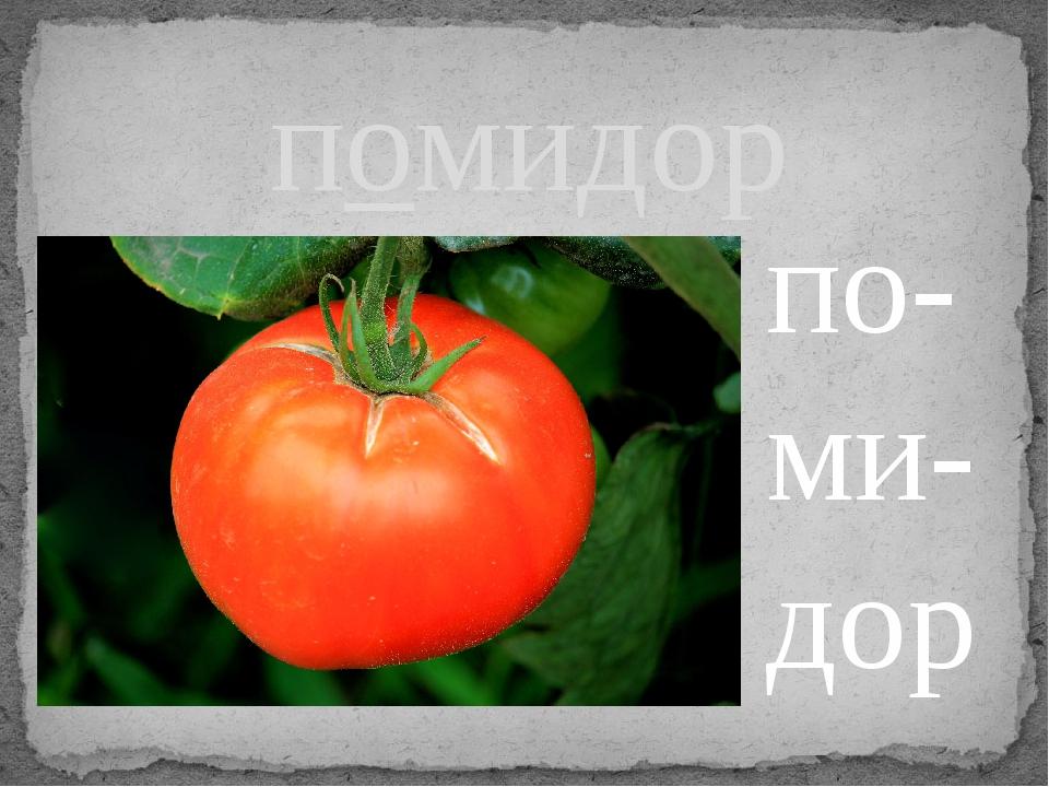 помидор по- ми- дор