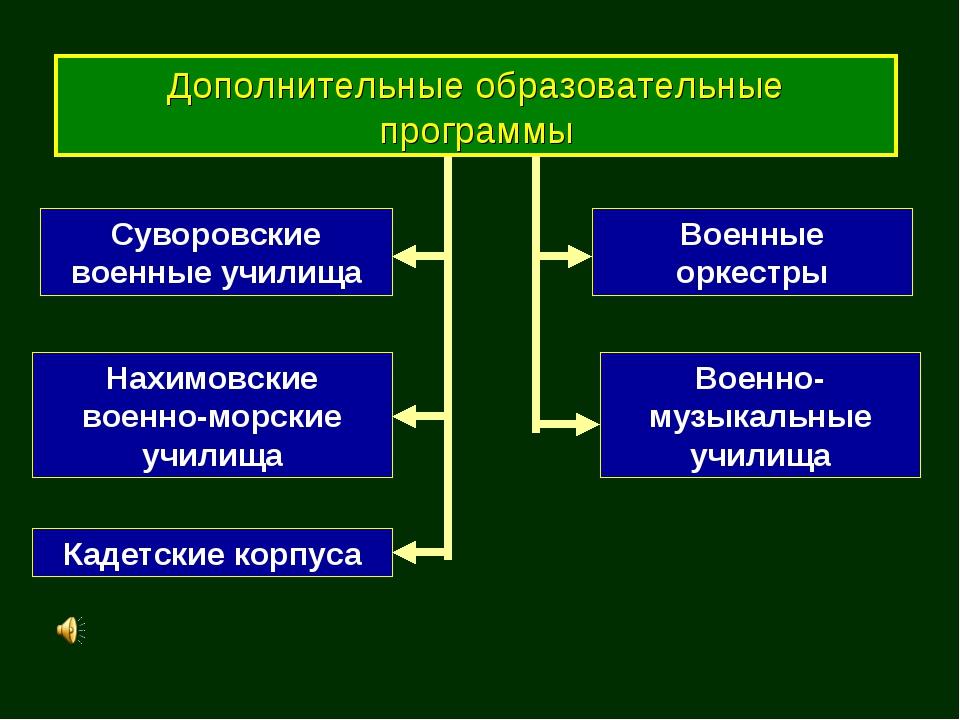 Дополнительные образовательные программы Суворовские военные училища Нахимовс...