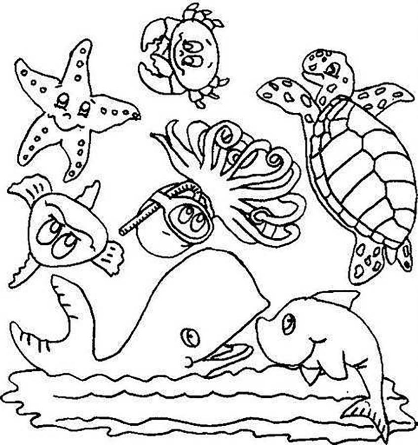 картинки для раскраски на морскую тему вещь