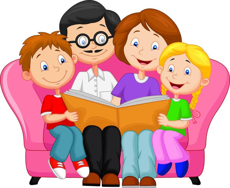 Картинка читаем семьей
