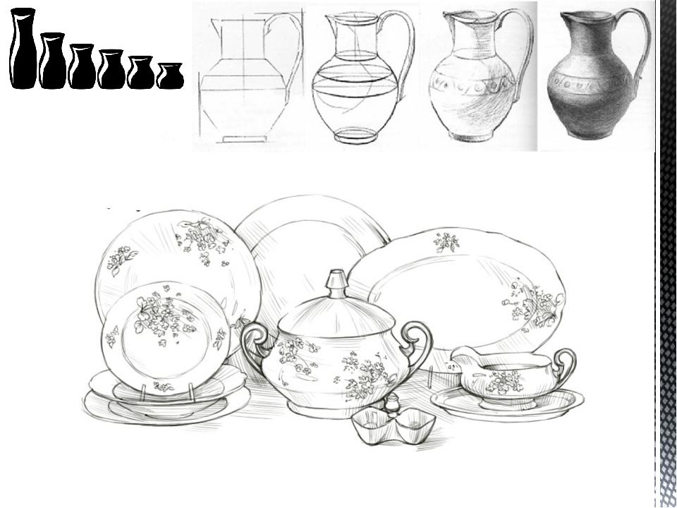 Десертная посуда нарисованные картинки