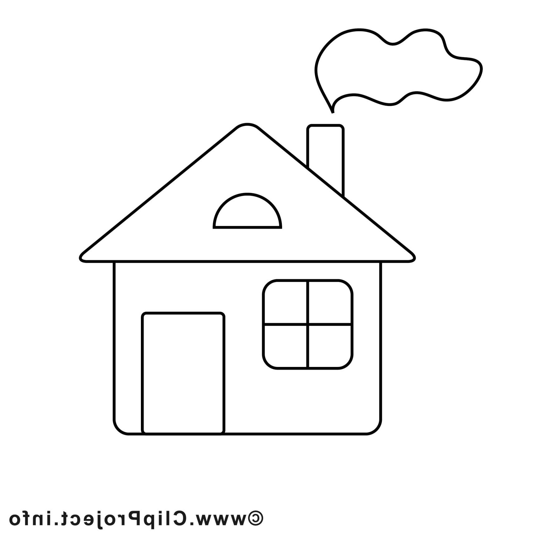 дом рисунок для раскрашивания них много