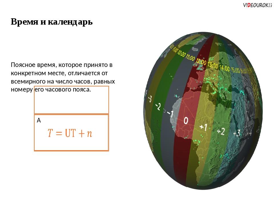 Время и календарь Поясное время, которое принято в конкретном месте, отличает...