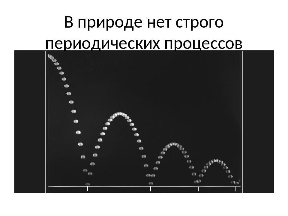 В природе нет строго периодических процессов