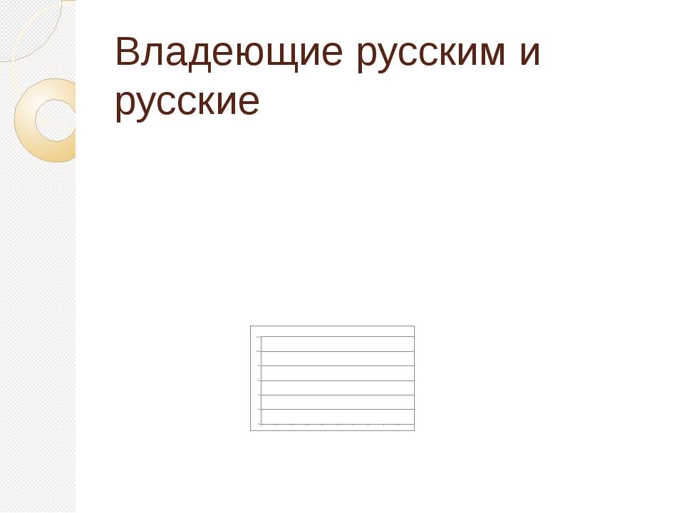Владеющие русским и русские