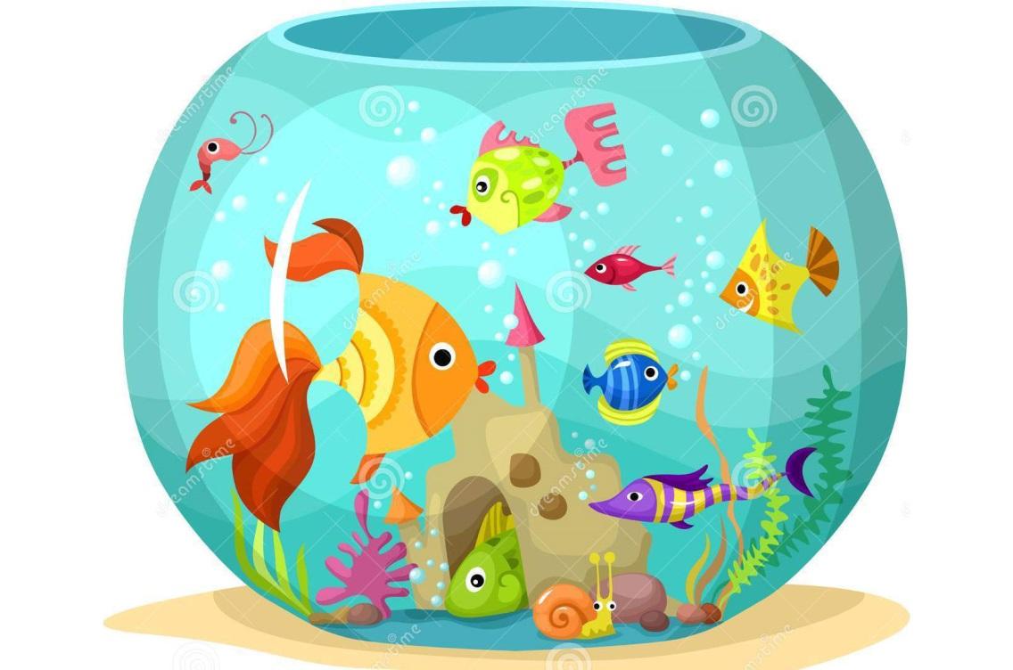 Аквариум с рыбками детские картинки