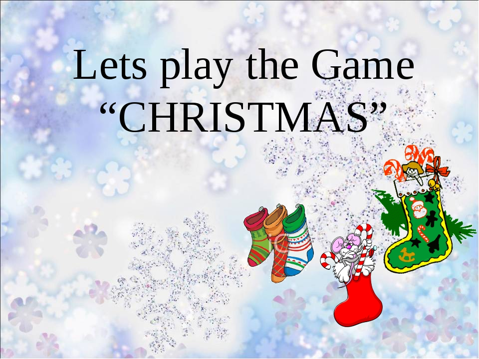 """Lets play the Game """"CHRISTMAS"""""""