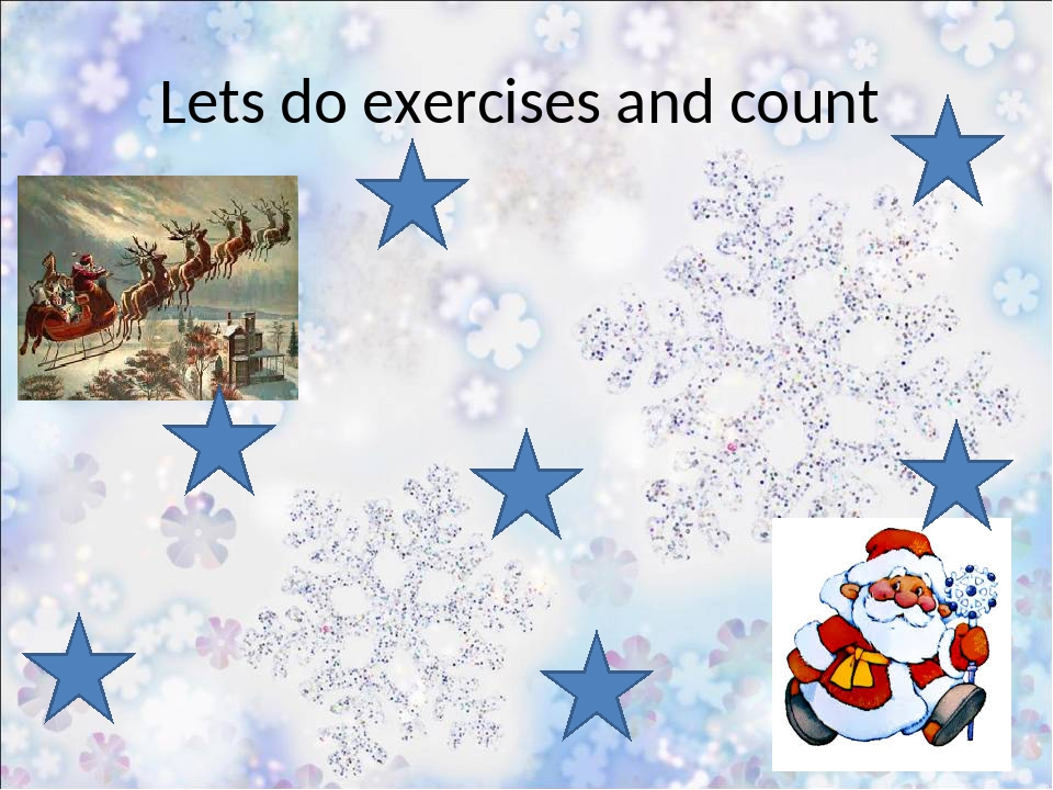 Lets do exercises and count