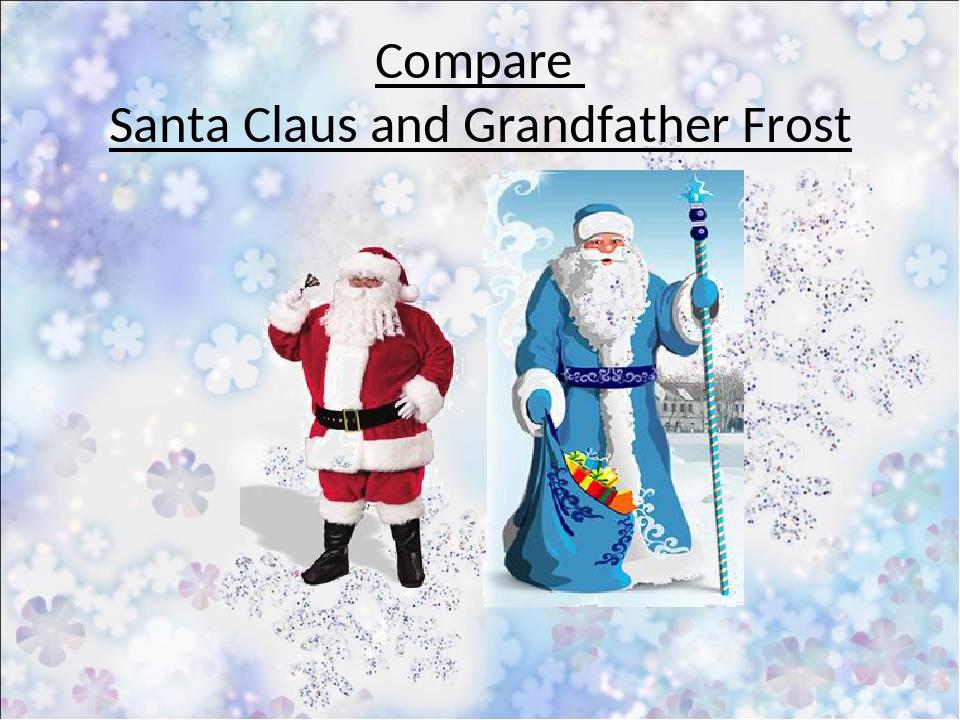 Compare Santa Claus and Grandfather Frost