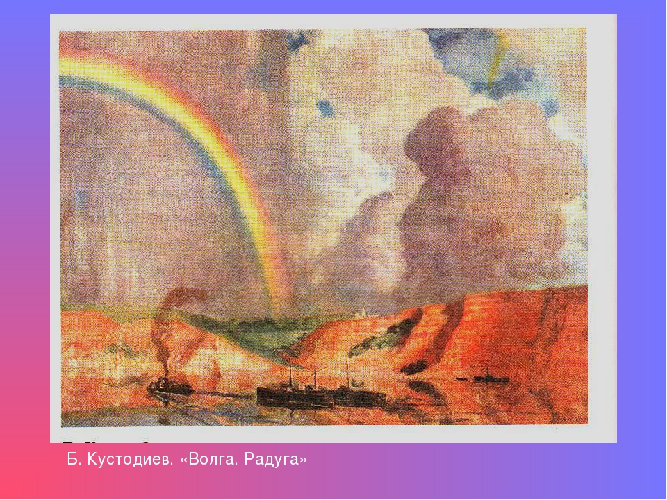 Б. Кустодиев. «Волга. Радуга»