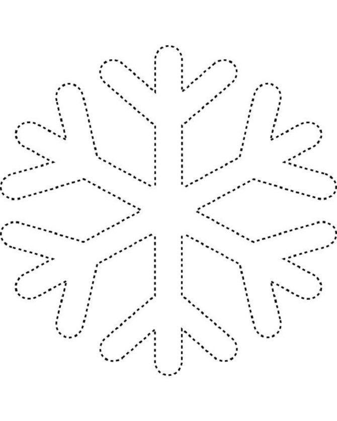 рисунок самой простой снежинки овощ растет