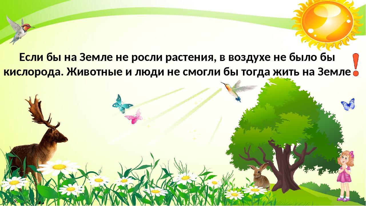 Синягина Т.В. Если бы на Земле не росли растения, в воздухе не было бы кисло...