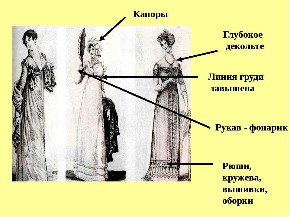 Линия груди завышена Глубокое декольте Рукав - фонарик Рюши, кружева, вышивк...