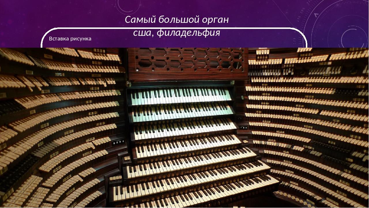 Самый большой орган сша, филадельфия