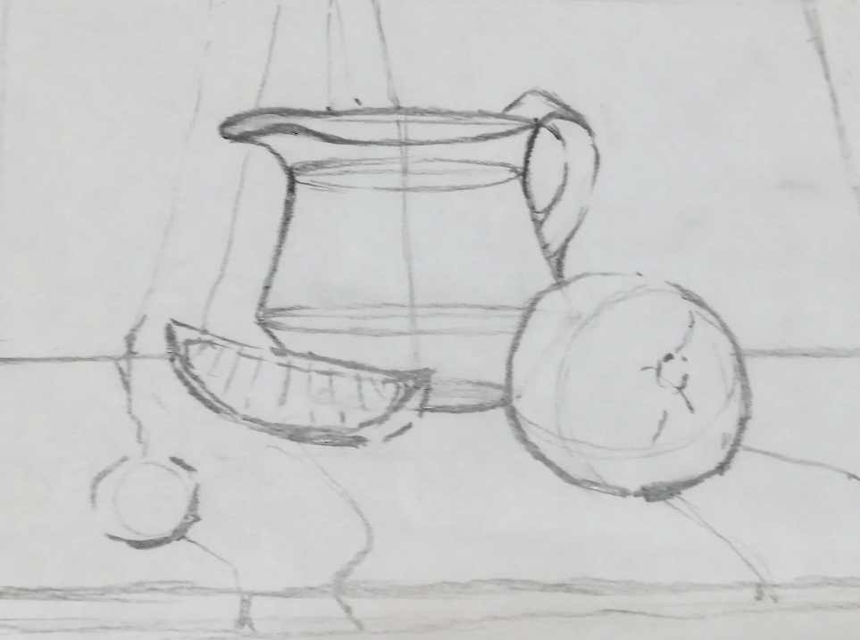 Рисуем натюрморт с картинками поэтапно