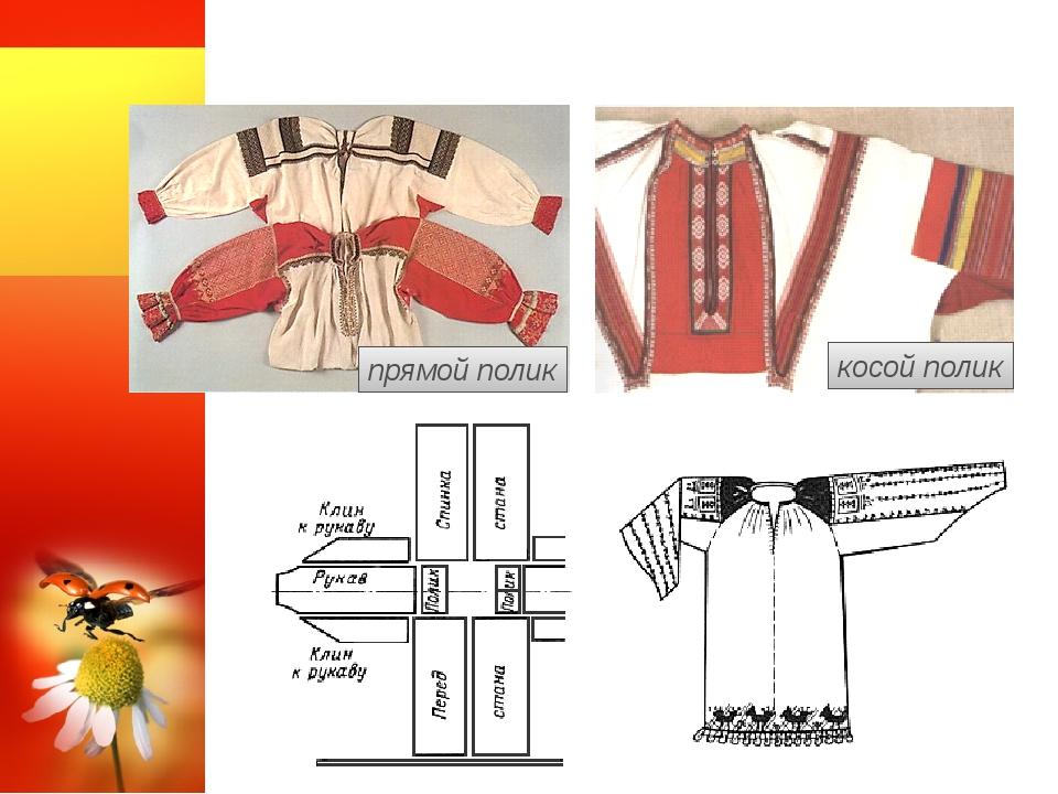 Рубашки с поликами прямой полик косой полик