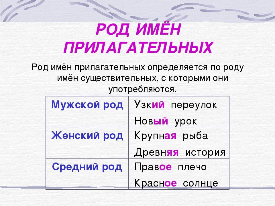 картинка с парой имен прилагательных