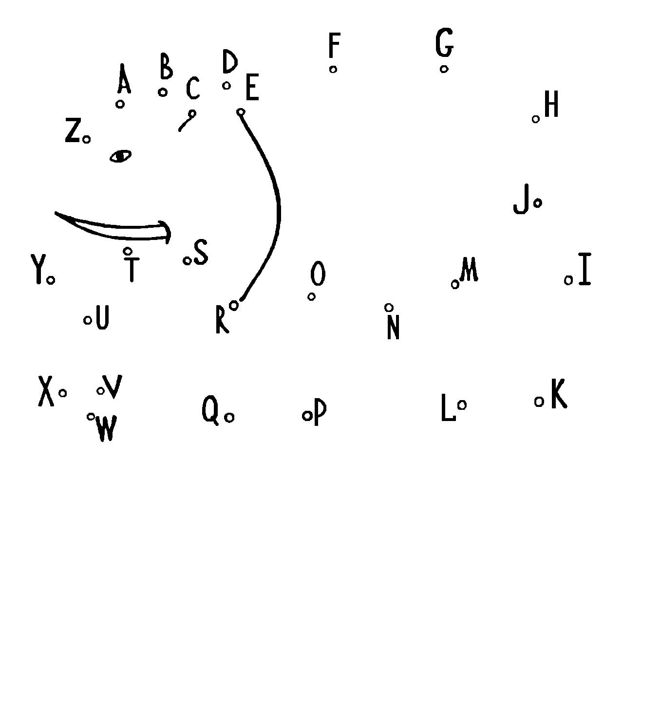 картинки по точкам по английскому алфавиту
