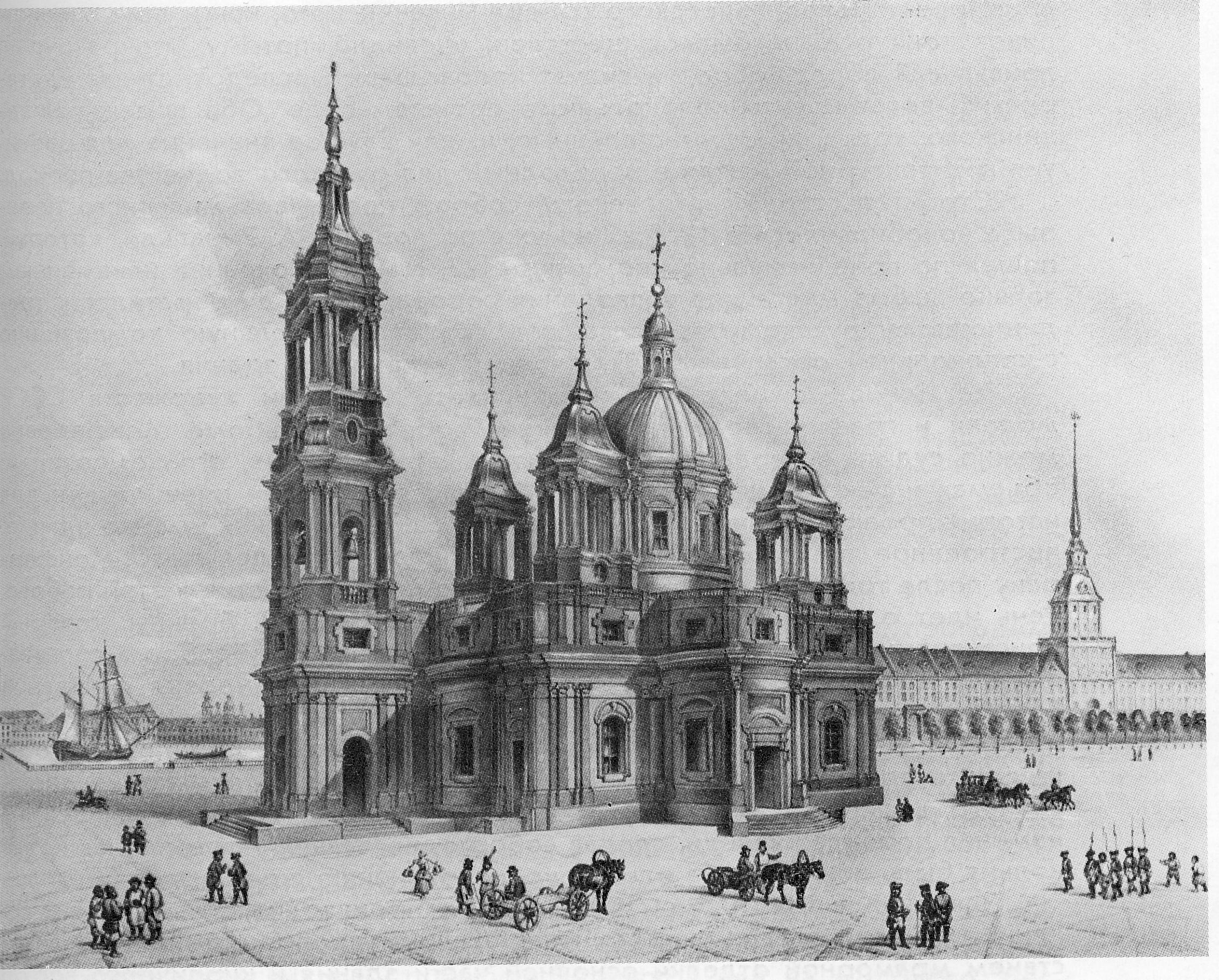 исаакиевский собор рисунки монферана городской