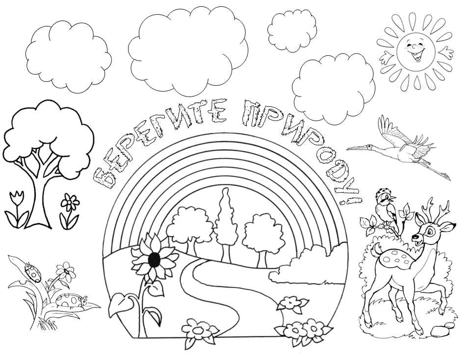 Картинки раскраски по экологии для дошкольников берегите природу