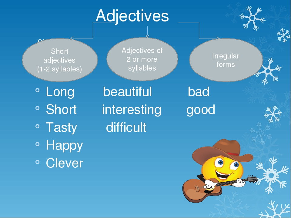 Sho Long beautiful bad Short interesting good Tasty difficult Happy Clever S...