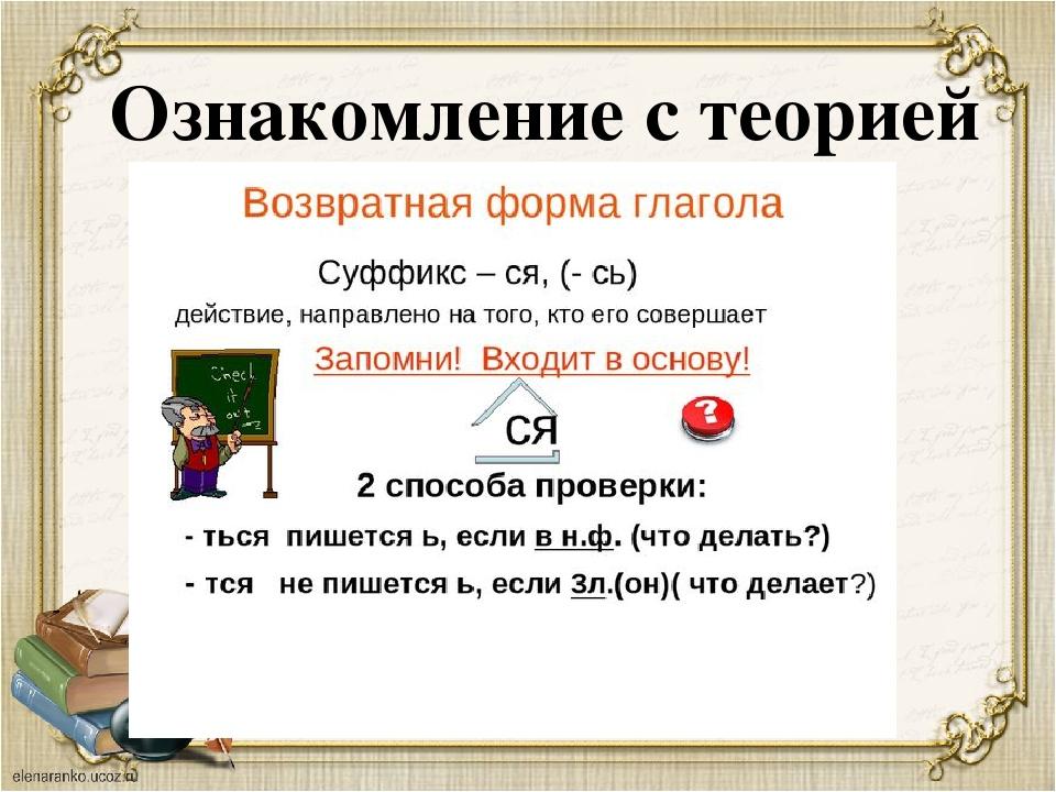 Возвратные глаголы Невозвратные глаголы Употребляются с суффиксом –ся (-сь)....