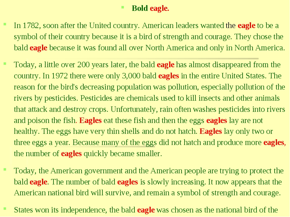 Bold eagle. In 1782, soon after the United country. American leaders wanted t...