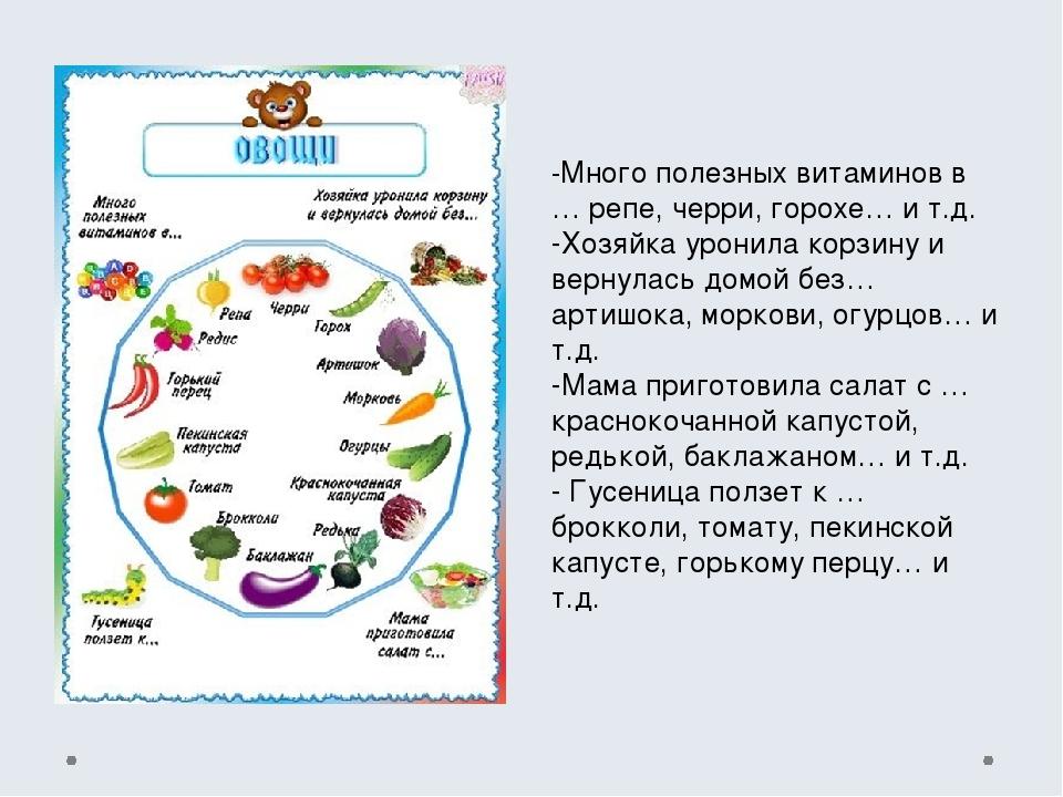 -Много полезных витаминов в … репе, черри, горохе… и т.д. -Хозяйка уронила ко...