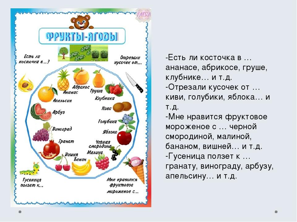 -Есть ли косточка в … ананасе, абрикосе, груше, клубнике… и т.д. -Отрезали ку...