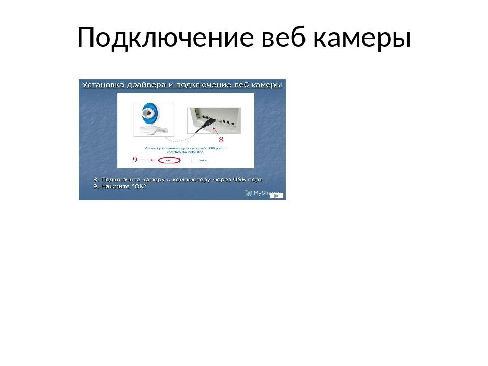 Подключение веб камеры