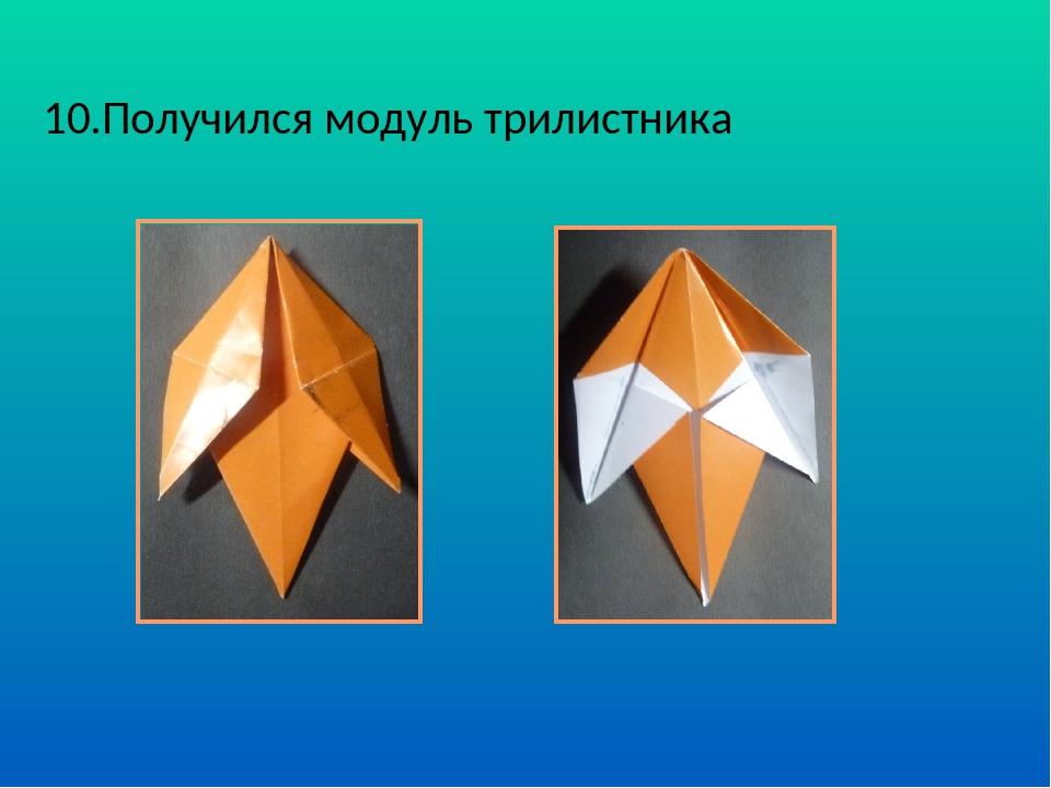. 10.Получился модуль трилистника