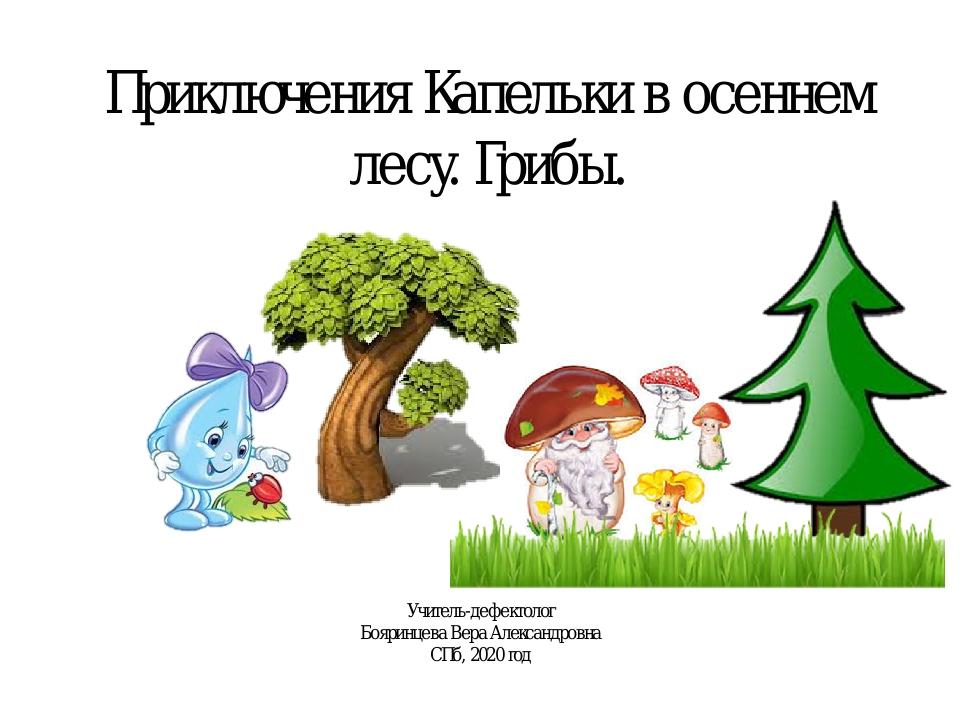 Приключения Капельки в осеннем лесу. Грибы. Учитель-дефектолог Бояринцева Вер...