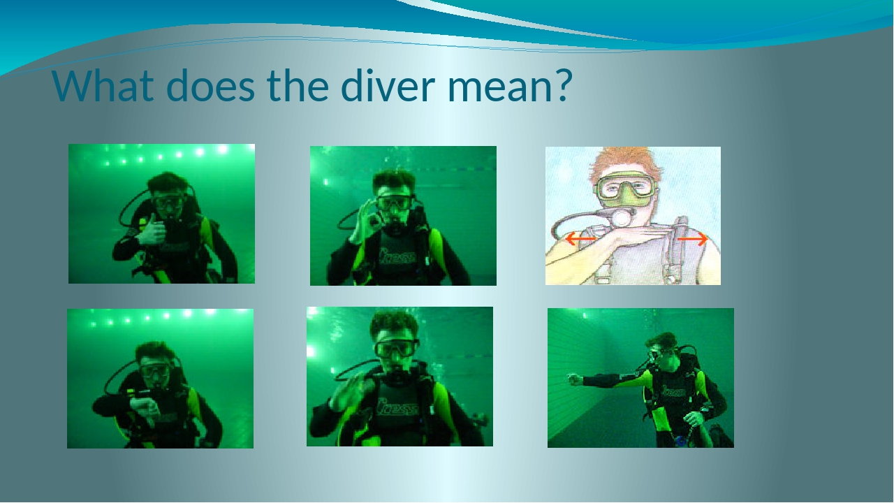 What does the diver mean?