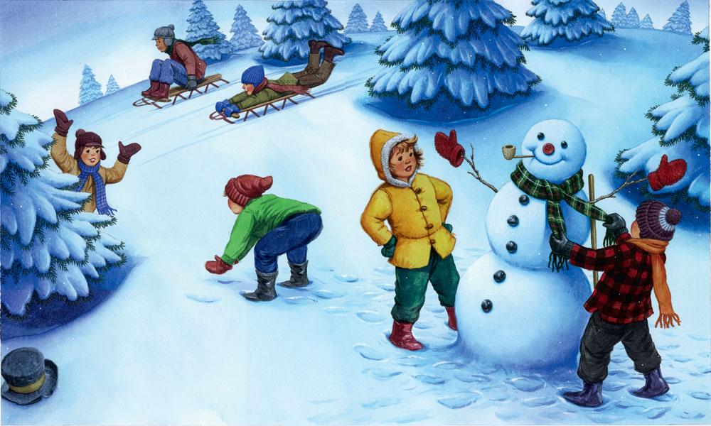 Картинки с детьми про зиму
