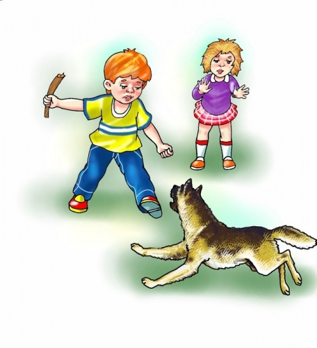 Правила поведения с животными для детей в картинках, картинка старухи