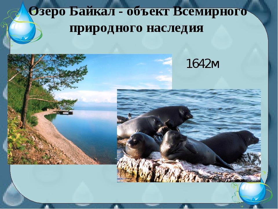 Озеро Байкал - объект Всемирного природного наследия 1642м