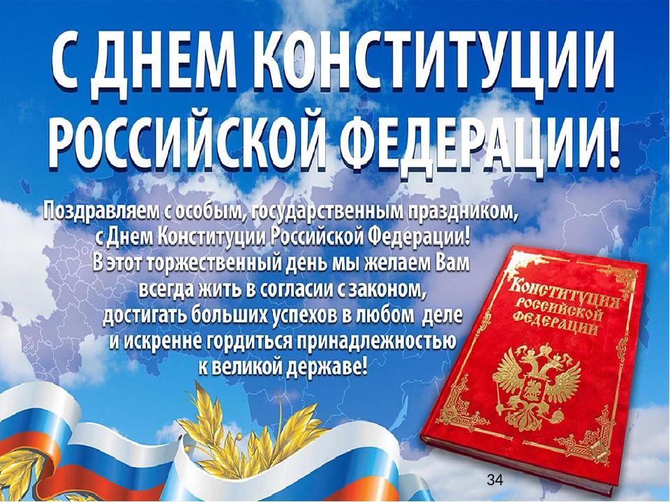 поздравление день конституции россии