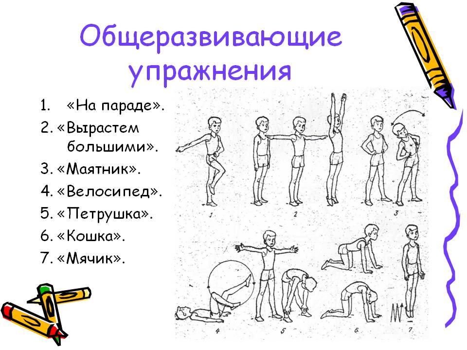 комплекс упражнения на всех уроков с картинками