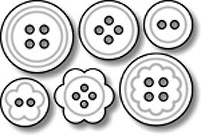 Контуры картинки пуговицами