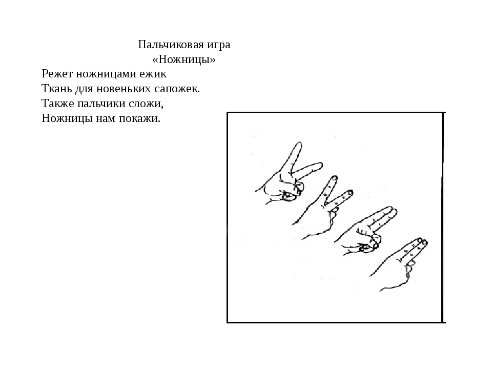 Пальчиковая игра «Ножницы» Режет ножницами ежик Ткань для новеньких сапожек....