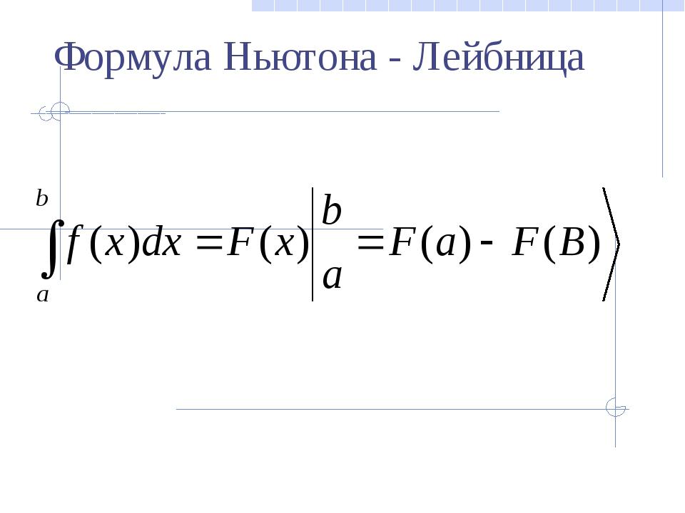 Пример 1. Вычислить определённый интеграл: = Решение: