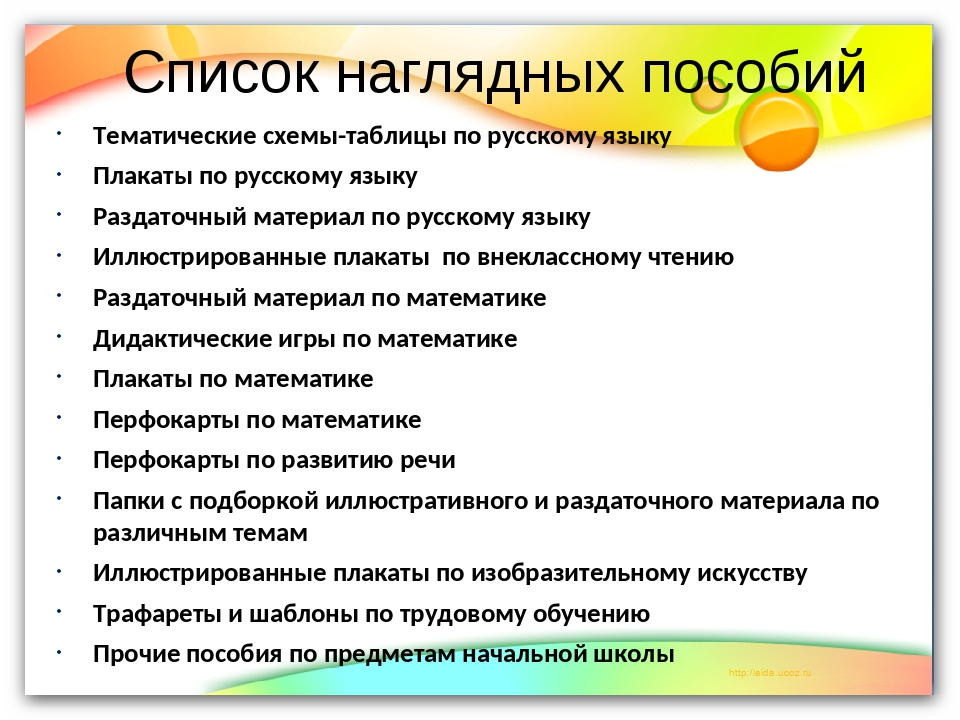 Список наглядных пособий Тематические схемы-таблицы по русскому языку Плакаты...